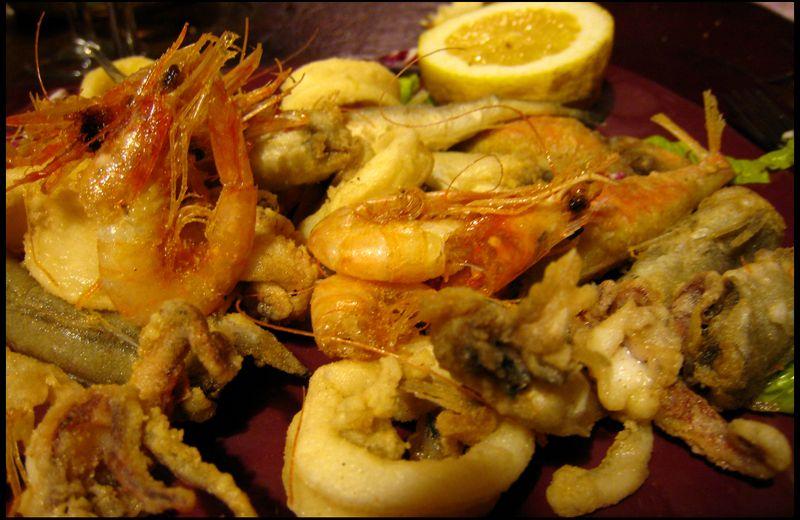 Fried fish platter