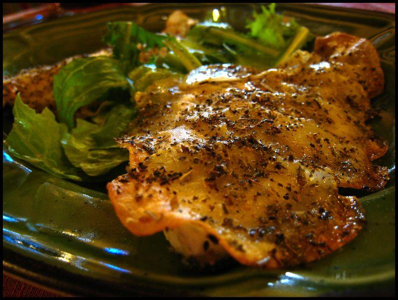 Potato crusted fish