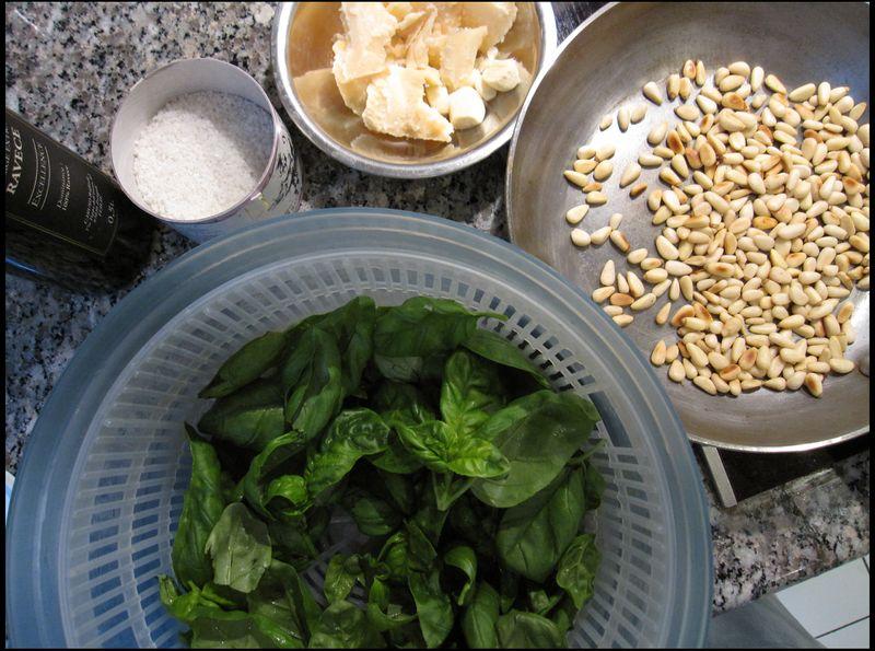Ingredients pesto