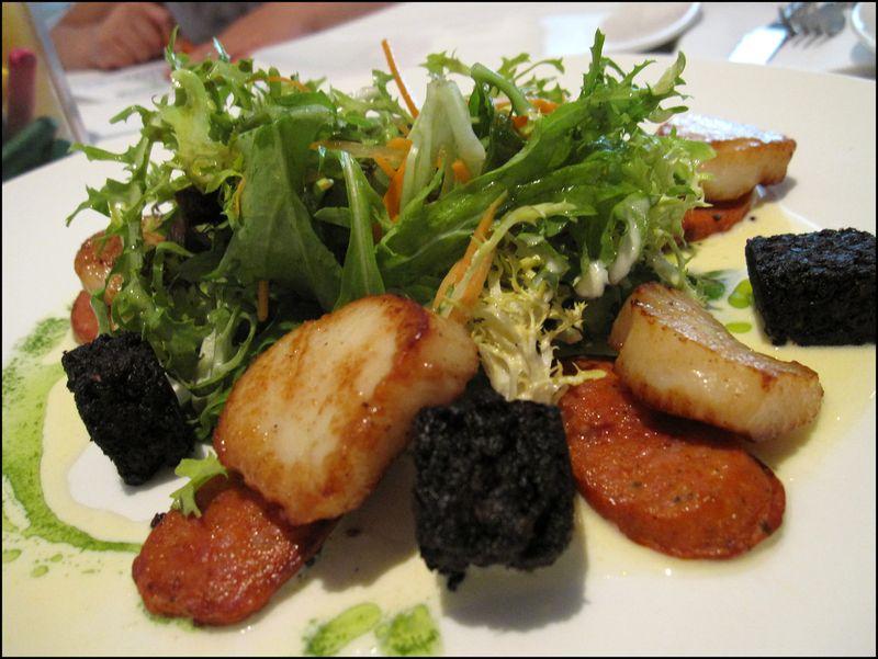 Stornoway scallop salad