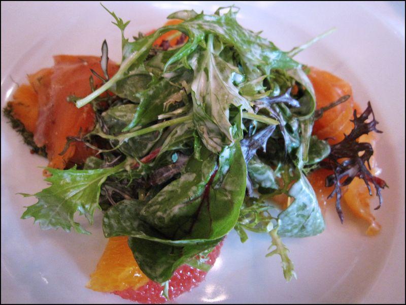 Tri-salmon salad