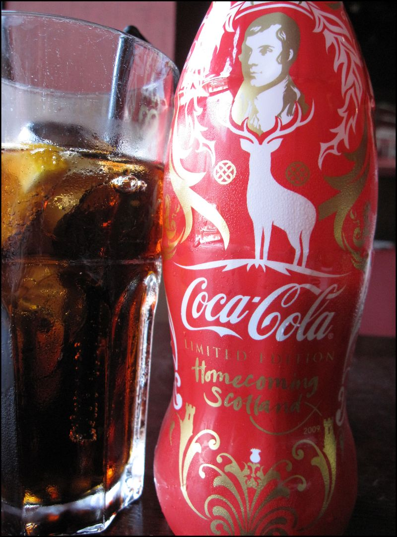 Robert burns limited edition cocacola