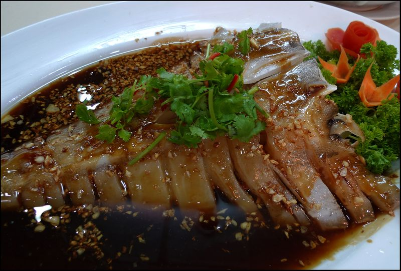 Cantonese steamed shark head