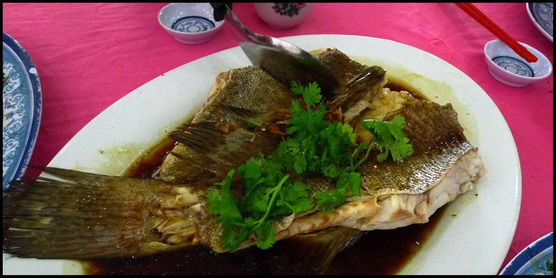 Heongkee steamed fish