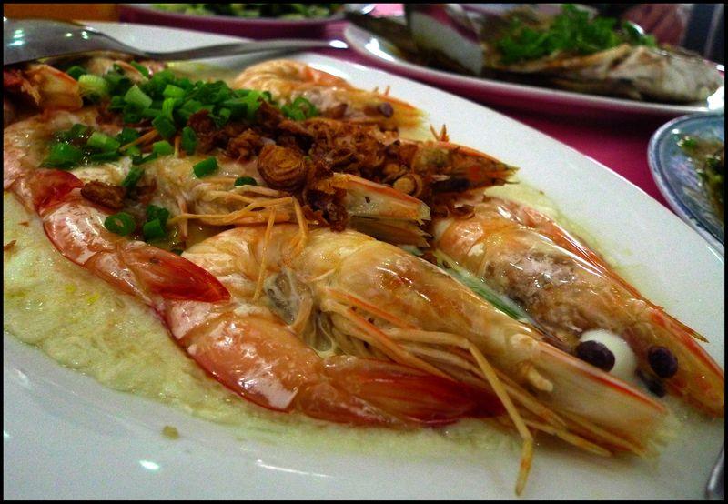Heong kee prawns