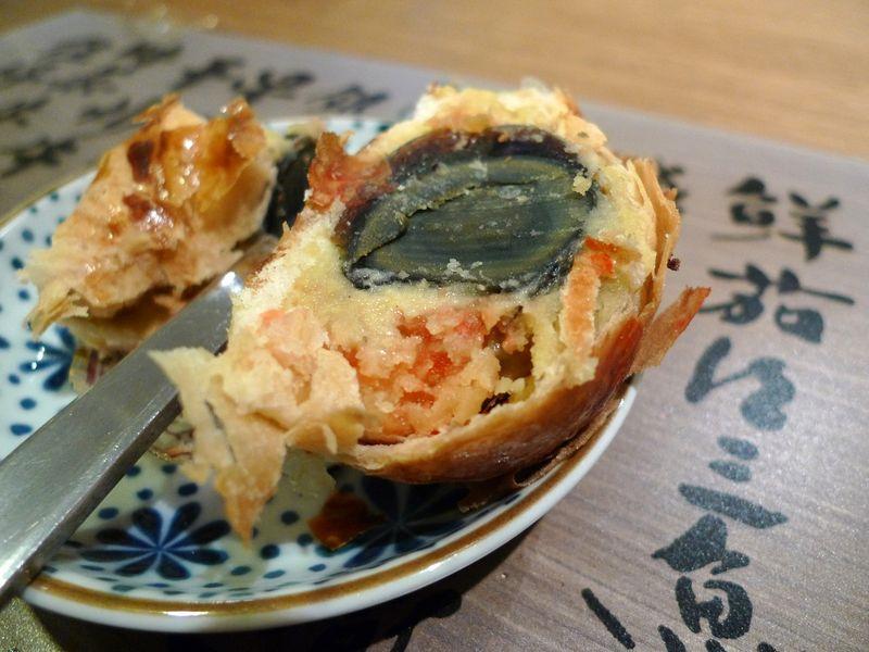 Century egg pastry
