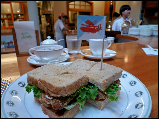 Ghibli katsu sandwich