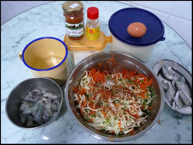 Cucur udang ingredients2