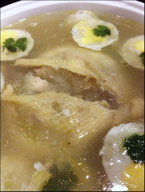 Chicken bird nest soup