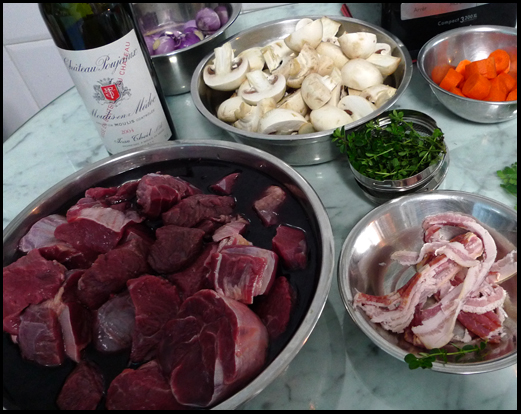 Bouef bourguignon ingredients